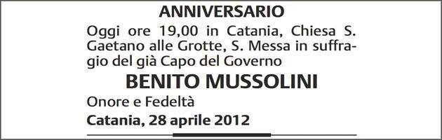 Catania, messa in onore di Mussolini. E in chiesa parte il saluto romano