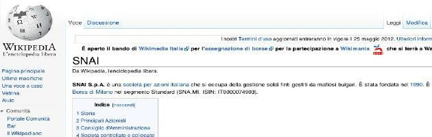 Domeniche Bestiali – Se Wikipedia se la prende con la Snai 'a sua insaputa'