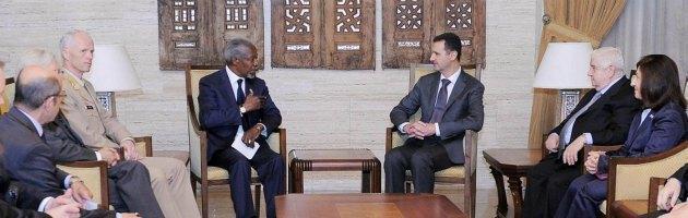 """Siria, Kofi Annan (Onu): """"Accordo con Assad per porre fine alle violenze"""""""