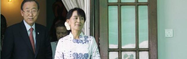 Birmania, primo incontro tra Ban Ki-Moon e Aung San Suu Kyi