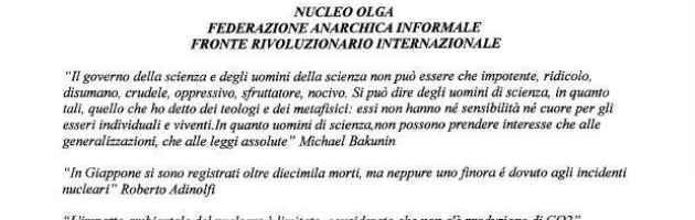 """La Fai rivendica l'agguato ad Adinolfi: """"Sparato con piacere, ora nuove azioni"""""""