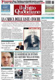 Prima Pagina Il Fatto Quotidiano - La carica delle liste civiche