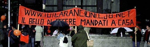 """""""Tute arancioni"""", torna la protesta dei lavoratori di Matrix contro Telecom"""