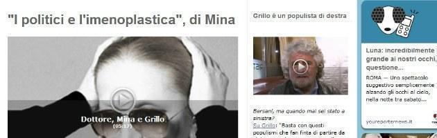 """Mina: """"I politici cercano una nuova verginità, per loro Grillo è una mazzata"""""""