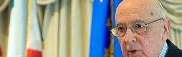 """Napolitano rilancia ruolo della politica in Europa. """"Imperativo un balzo federale"""""""