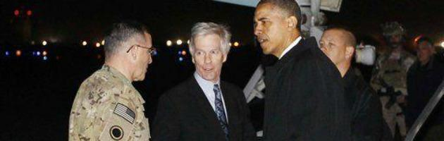 Afghanistan, visita a sorpresa di Obama. Attacco suicida a Kabul, 6 morti