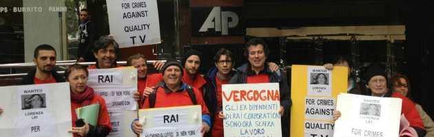 Rai: nuova protesta dei licenziati di Ny, all'asta i beni compreso l'archivio storico