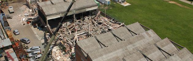 san felice crollo capannone terremoto