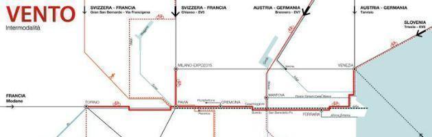 """Progetto """"Vento"""", da Torino a Venezia in bici. Costerebbe come un km di autostrada"""