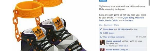 Protesta in Rete: Adidas 'stoppa' le scarpe con le catene da schiavi