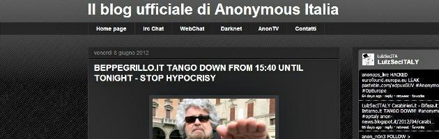 """Blog di Grillo sotto attacco degli hacker. """"Sos per trovare responsabili"""""""