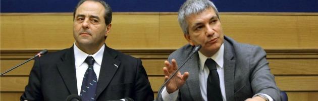 """Vendola e Di Pietro insieme per stanare Bersani: """"No a un'alleanza tra Pd e Udc"""""""