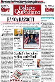 Prima Pagina Il Fatto Quotidiano - Banca Bassotti