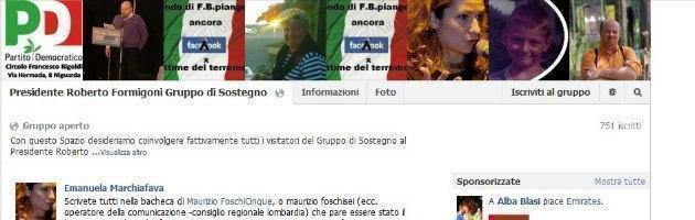 Amici di Formigoni su Facebook. Aggiunti Pd, Fiom e cronisti. A loro insaputa