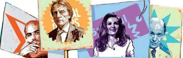 """Montezemolo, Santanchè, Saviano & C. Liste """"civiche"""" stampella dei partiti in crisi"""