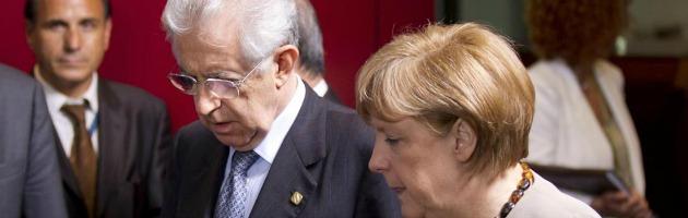 """Ue, Monti smentisce la Merkel: """"Sistema anti-spread senza coinvolgere la troika"""""""
