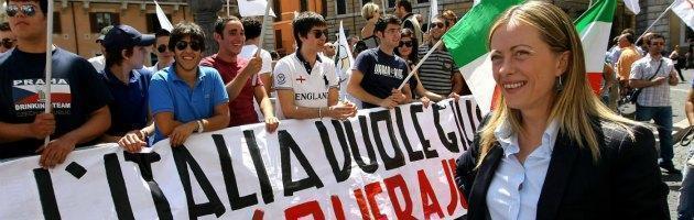"""Pdl, Meloni: """"Il partito cambi entro giugno o fondiamo la nuova destra"""""""