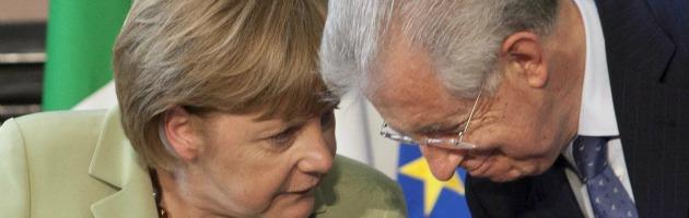 Monti contro Merkel, partita decisiva sull'euro in vista del vertice Ue