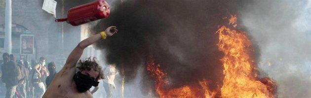 Scontri di Roma, Er Pelliccia condannato a 3 anni per il lancio dell'estintore