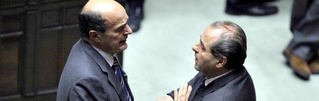 """Bersani: """"Di Pietro, basta diffamazioni"""". La replica: """"No, parlo di fatti concreti"""""""