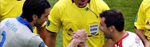 Europei 2012, Italia- Croazia finisce 1-1. A Poznan segnano Pirlo e Mandzukic