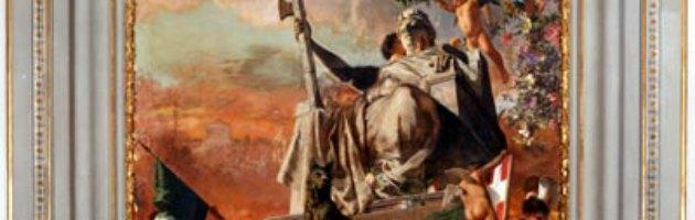 Roma, alla Camera crolla affresco dell'800 nella sala della Lupa