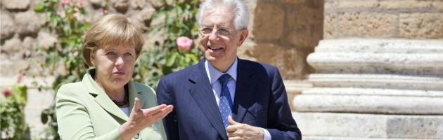 """Crisi, a Roma vertice Monti-Merkel. """"Avanti con la disciplina e le riforme"""""""