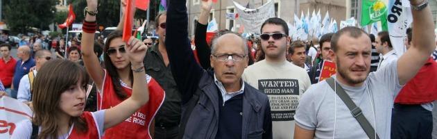 """Palermo, cori contro Napolitano: """"Ha messo un macigno sulla giustizia"""""""