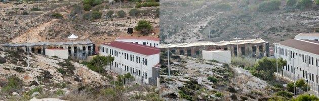 Sbarchi a Lampedusa, riaperto il centro di accoglienza. Ma un'ala cade a pezzi