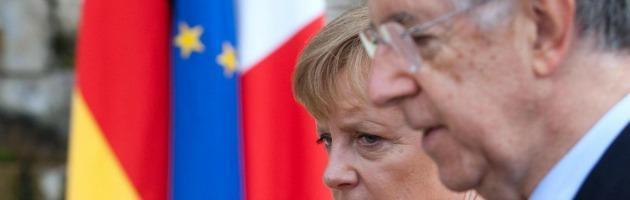 """Asse Monti-Merkel: """"Faremo di tutto per salvare l'Euro"""""""