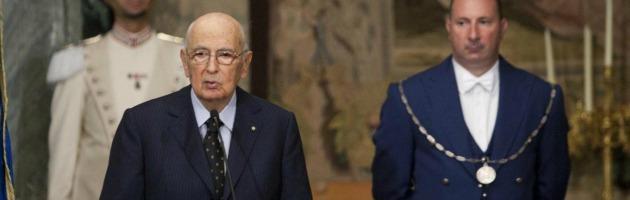 """Napolitano: """"Fenomeni di corruzione inimmaginabili e vergognosi"""""""