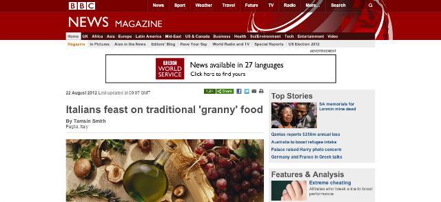 """La """"nuova"""" Italia vista dall'estero: anche la BBC alla sagra del panino di Giovinazzo"""