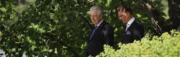 """Crisi, Monti: """"Se lo spread resta alto, rischiamo un governo euro-scettico"""""""