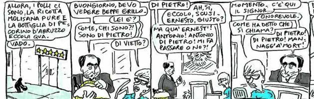 """Di Pietro e la """"questua"""" a Grillo"""