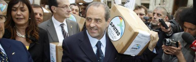 """Di Pietro: """"Ma quali primarie, io mi candido a premier contro il liberismo"""""""
