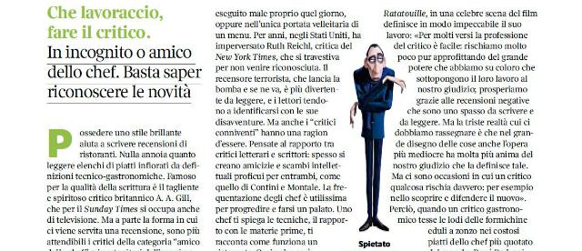 Il lavoraccio del critico: la replica di Camilla Baresani  a Valerio M. Visintin