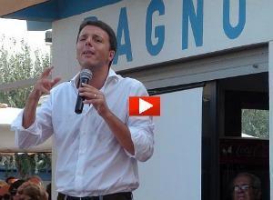 """Renzi in tour a Cervia: """"Grillo esiste perché è il Pd che lo vuole"""" (video)"""