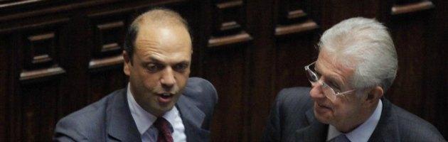 """Monti su spread e Berlusconi, Alfano: """"Vicenda chiusa"""". Ma il Pdl è in fermento"""