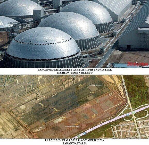 Ilva, coprire i parchi minerali si può: lo ha fatto la Hyundai Steel in Corea del Sud