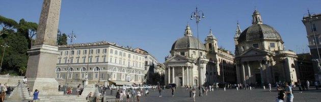 Roma Crollato Il Muro Di Contenimento Valadier Vicino Al