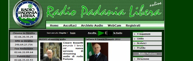 "Radio Padania oscurata a Milano. Polizia Postale: ""Antenna abusiva"""