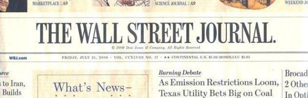 """Wall Street Journal: """"Ultima chance per l'Italia, Grillo è un'opportunità"""""""