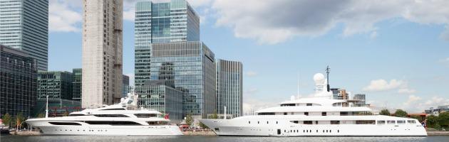 """Londra 2012 come il Gp di Montecarlo: porticcioli """"invasi"""" dagli yacht di lusso"""