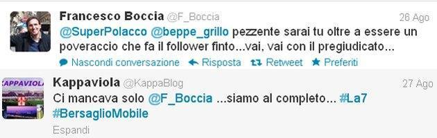 Francesco Boccia contro Marco Travaglio (via Twitter)