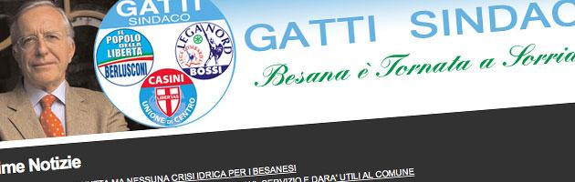 Il sindaco di Besana Brianza, Vittorio Gatti