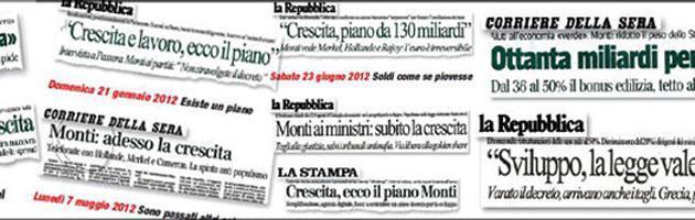 Monti&Co, nove mesi di annunci. Ma per i giornali diventano riforme