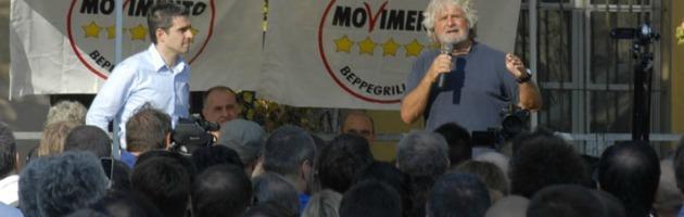 """Grillo a Parma: """"Classe politica figlia dell'informazione schiava degli editori"""""""