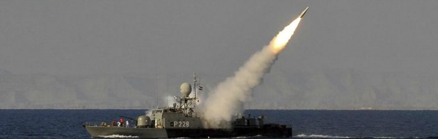 Missili Iran nel Golfo Persico