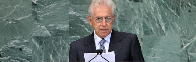"""Monti all'Onu: """"E' la peggiore crisi della storia europea: ora serve più Ue"""""""