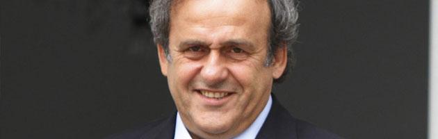 Il presidente della Uefa Michel Platini